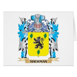 Sherman Coat of Arms - Family Crest Large Greeting Card