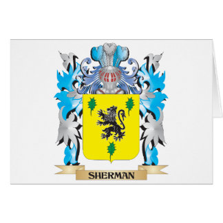 Sherman Coat of Arms - Family Crest Greeting Card