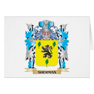 Sherman Coat of Arms - Family Crest Stationery Note Card