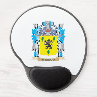 Sherman Coat of Arms - Family Crest Gel Mouse Pad