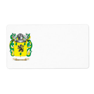 Sherman Coat of Arms (Family Crest) Shipping Label