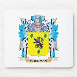 Sherman Coat of Arms - Family Crest Mouse Pad