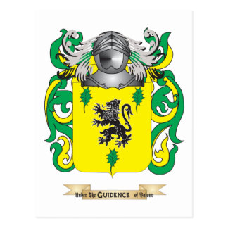 Sherman Coat of Arms (Family Crest) Postcard