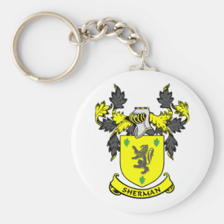SHERMAN Coat of Arms Keychain