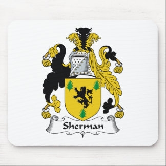 Sherman Family Crest Mouse Pad
