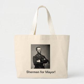 Sherman for Mayor Tote Bags