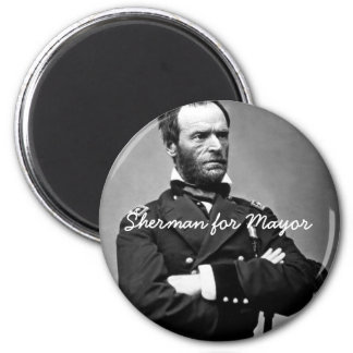 Sherman for Mayor - Round Magnet