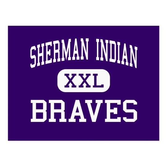 Sherman Indian - Braves - High - Riverside Postcard