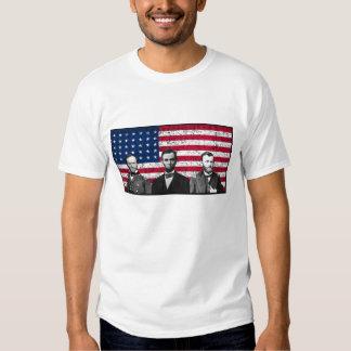 Sherman, Lincoln, and Grant with Black Border Tee Shirt
