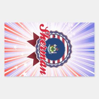 Sherman, ME Rectangular Sticker