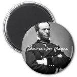Sherman para el alcalde - imán redondo