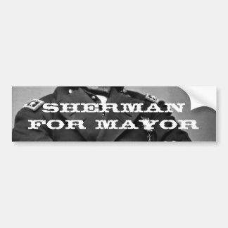 Sherman para el alcalde pegatina para el parachoqu etiqueta de parachoque