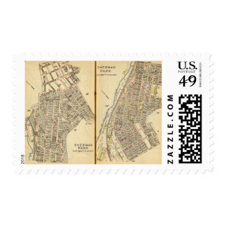Sherman Park, New York Postage Stamp