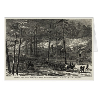 Sherman s March to the Sea Through South Carolina Greeting Cards