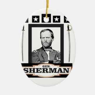 sherman stars swords ceramic ornament
