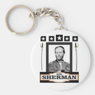 sherman stars swords keychain