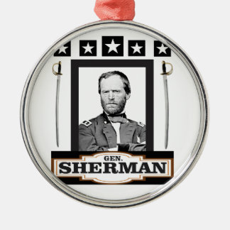 sherman stars swords metal ornament