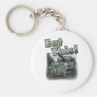 Sherman Tank - Eat This! Basic Round Button Keychain