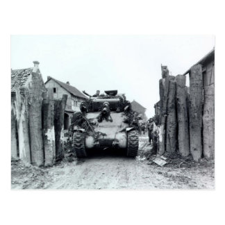 Sherman Tank Postcard