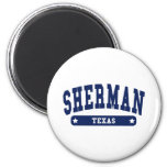 Sherman Texas College Style tee shirts Fridge Magnets