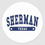 Sherman Texas College Style tee shirts Stickers