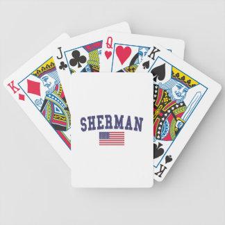 Sherman US Flag Bicycle Playing Cards