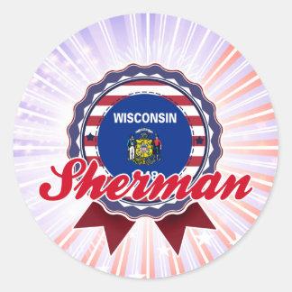 Sherman, WI Sticker