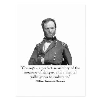 Sherman y cita tarjeta postal