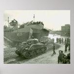 Shermans at Anzio Print