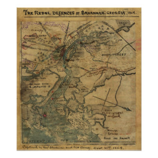 Sherman's Attack on Ft. Pulaski Poster