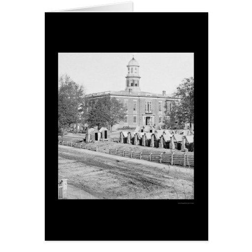 Sherman's Camp Near Atlanta's City Hall 1864 Greeting Cards