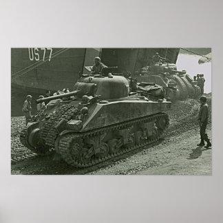 Shermans en Anzio Póster