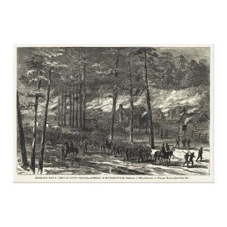 Sherman's March to the Sea Through South Carolina Canvas Prints