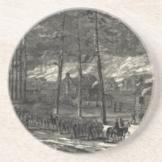 Sherman's March to the Sea Through South Carolina Drink Coaster