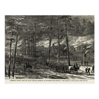 Sherman's March to the Sea Through South Carolina Postcard