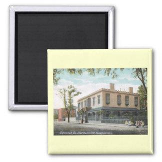Sherman's Old Headquarters, Savannah Vintage 2 Inch Square Magnet