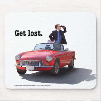 "Sherman's Way ""Get Lost"" Mouse Pad"