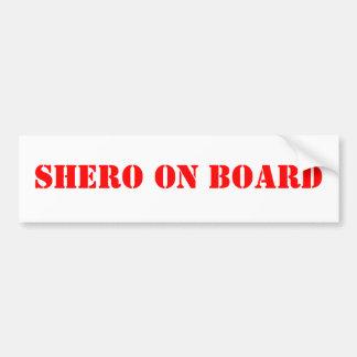 Shero on Board Bumper Sticker