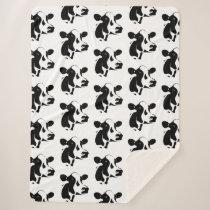 Sherpa Blanket-Black and White Cow Sherpa Blanket