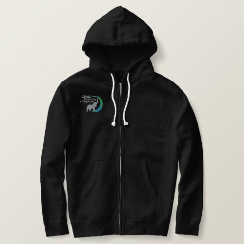Sherpa lined zip up sweatshirt in black