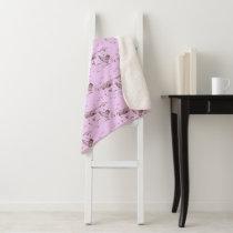 Sherpa Throw Blanket-Medium Sweet Lilac Chicken