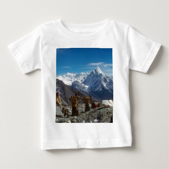 Sherpanis carrying climbing loads baby T-Shirt