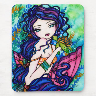 """Sherriella"" Mermaid Fantasy Fairy Turtle Mouse Pad"