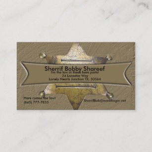 Sheriff badge business cards zazzle sherrif style business card colourmoves
