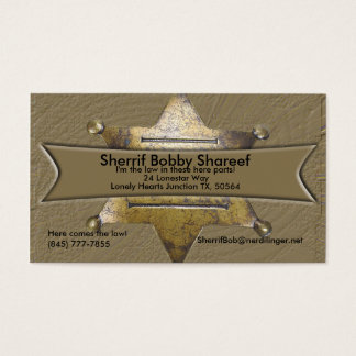 Sherrif Style Business card
