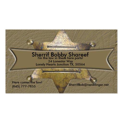 Sherrif Style Business card
