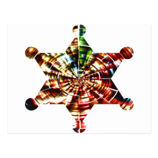 Sherrif's Badge - Holistic Sparkling Red Energy Postcard