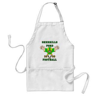 sherrills ford football design 1 adult apron