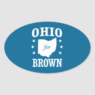 Sherrod Brown 2016 Oval Sticker