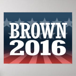Sherrod Brown 2016 Póster
